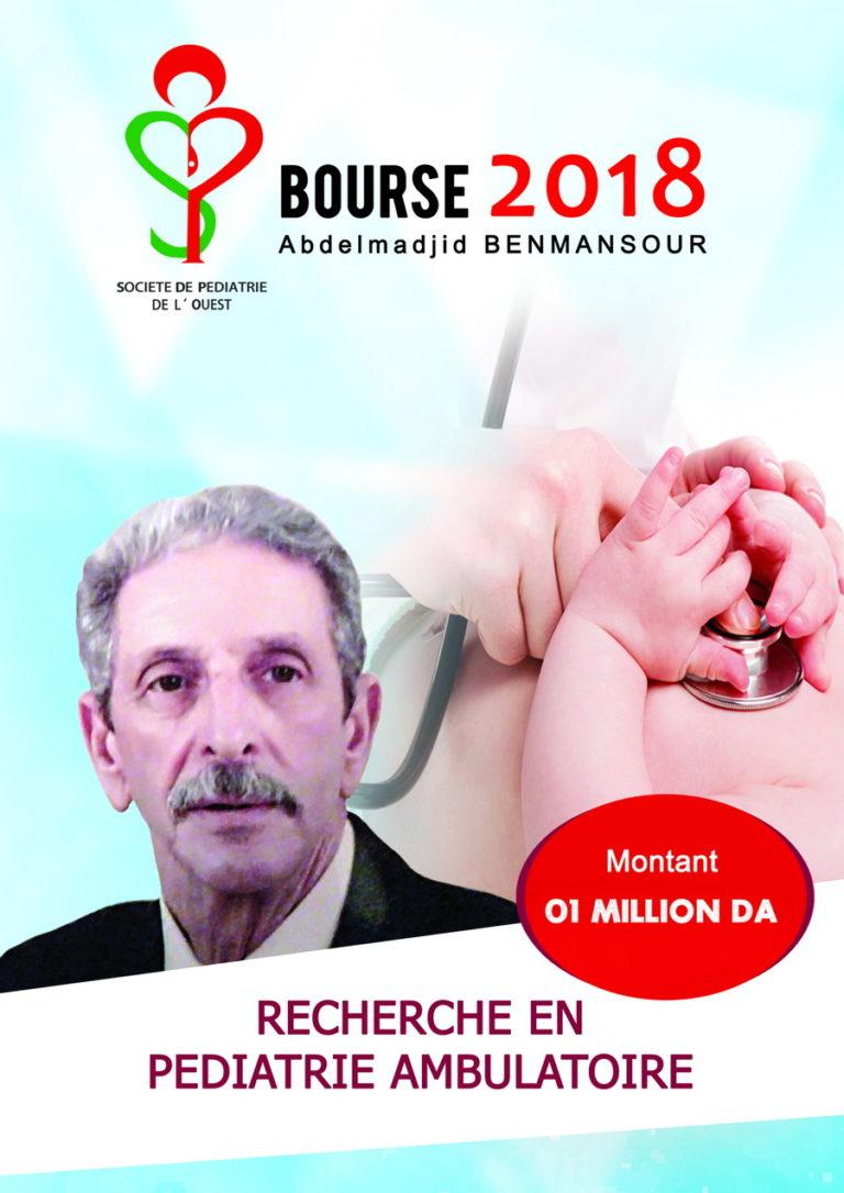 Bourse Dr Benmansour SPO 2018 1